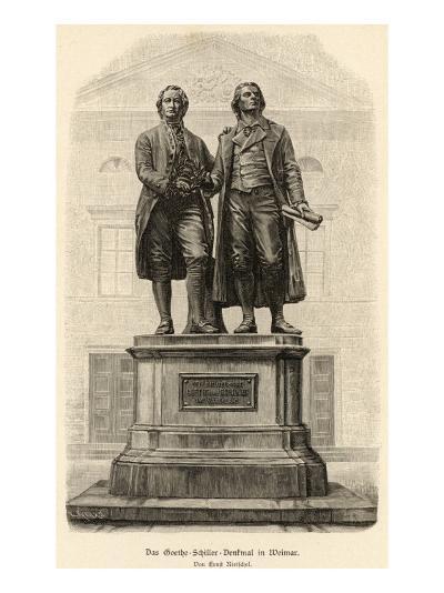 Johann Wolfgang Von Goethe Monument of Goethe and Schiller--Giclee Print