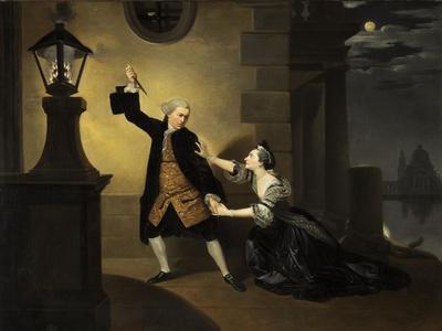 David Garrick as Jaffier and Susannah Cibber as Belvidera in 'Venice Preserv'd', c.1763
