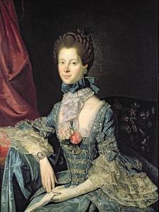 Queen Charlotte Sophia (1744-1818) Wife of King George III (C.1765) by Johann Zoffany