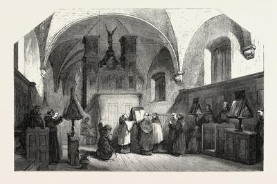 Monks of St. Francis Singing a Te Deum, 1855