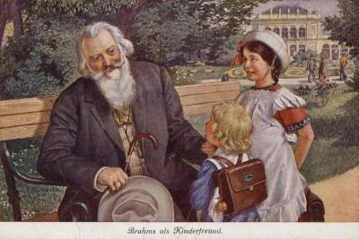Johannes Brahms as a Friend of Children--Giclee Print