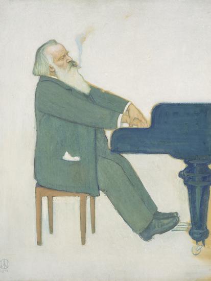 Johannes Brahms at the Piano-Willy von Beckerath-Giclee Print