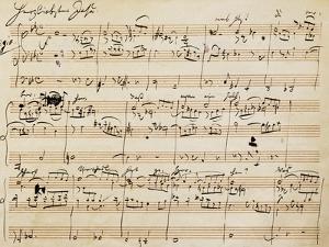 Handwritten Score for Herzliebster Jesu, Chorale Prelude No 2 by Johannes Brahms