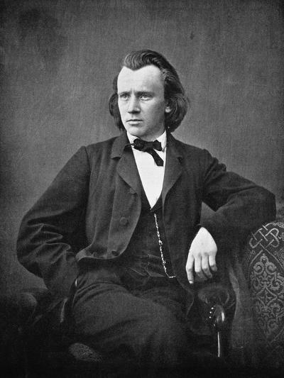 Johannes Brahms--Photographic Print