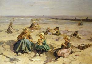 A Day at the Seaside by Johannes Evert		 Akkeringa