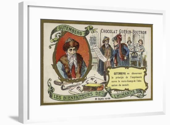 Johannes Gutenberg, German, Engraver, Inventor and Printer--Framed Giclee Print