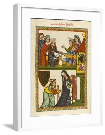 Johannes Hadlaub Poet and Minnesinger Citizen of Zurich Died in 1340--Framed Giclee Print