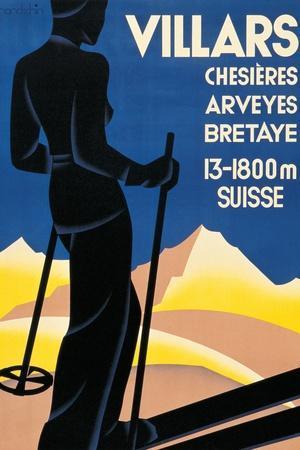 Advertising poster for Villars, Switzerland