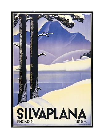 Advertising poster Silvaplana, Switzerland