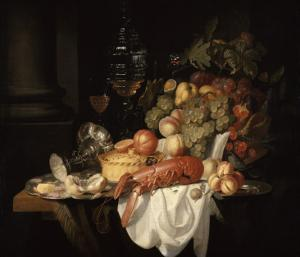 Nature morte au homard by Johannes Hannot