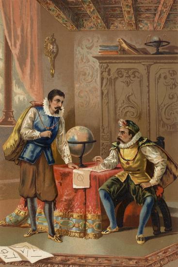 Johannes Kepler and Tycho Brahe at the Prague Observatory, C1600--Giclee Print