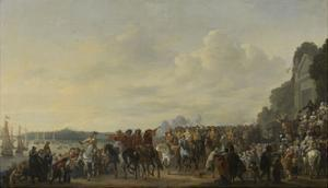 Arrival of Prince William II at the Estate Welna on the Amstel During the Attack on Amsterdam by Johannes Lingelbach