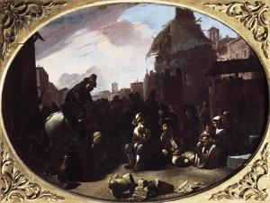 Bambocciata, Tooth Puller in Piazza Navona by Johannes Lingelbach