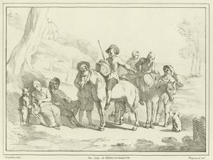 Peasants Resting on their Way to Market by Johannes Lingelbach