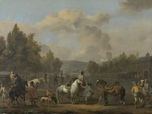Riding School by Johannes Lingelbach
