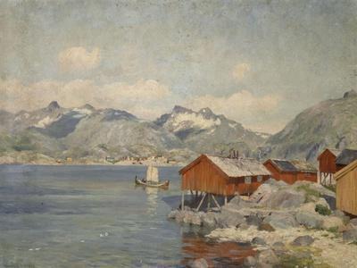 Maisons de pêcheurs à Svolvoer, Lofoden (Norvège)