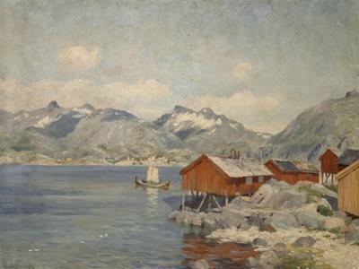 Maisons de pêcheurs à Svolvoer, Lofoden (Norvège) by Johannes Martin Grimelund