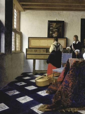 A Lady at the Virginal with a Gentleman (The Music Lesso), Ca 1662 by Johannes Vermeer