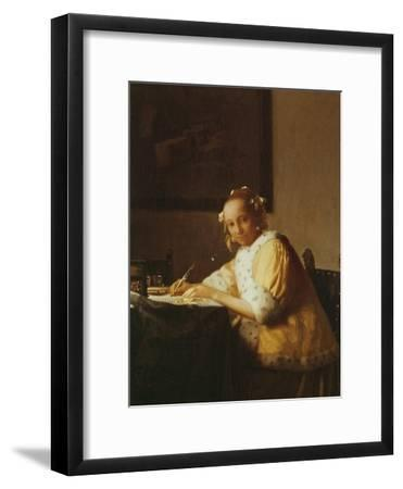 A Lady Writing, about 1665