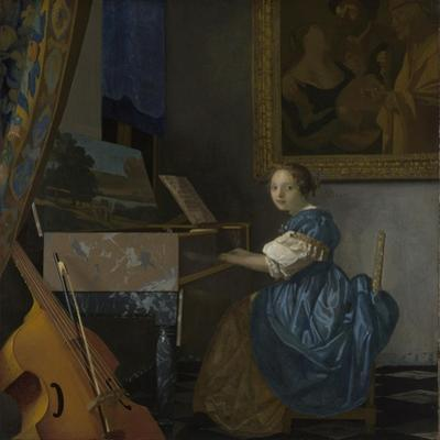 A Young Woman Seated at a Virginal, C. 1670