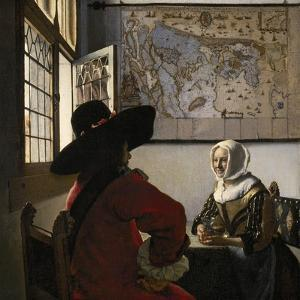 Amorous Couple, C.1657-58 by Johannes Vermeer