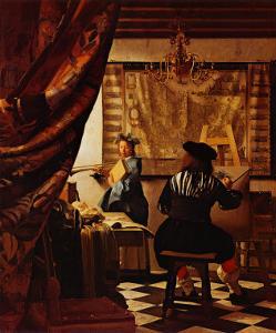 Artist's Studio by Johannes Vermeer