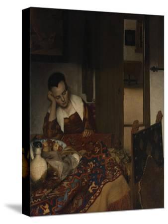 Girl asleep at a table, 1656-57