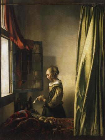 Girl at a Window Reading a Letter, about 1658