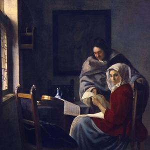 Girl Interrupted at Her Music, C. 1660 by Johannes Vermeer