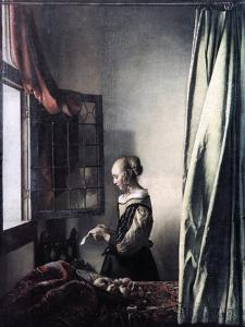Girl Reading a Letter at an Open Window, C1657 by Johannes Vermeer