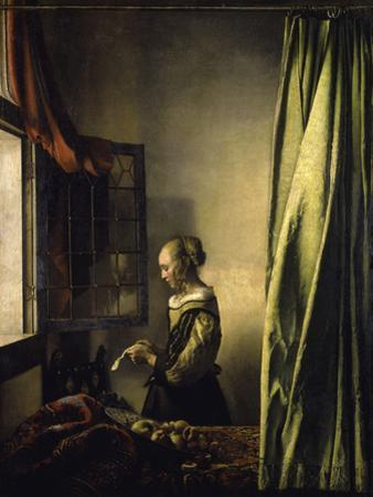 Girl Reading a Letter by Johannes Vermeer