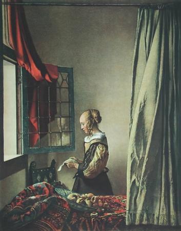 Girl Reaing a Letter