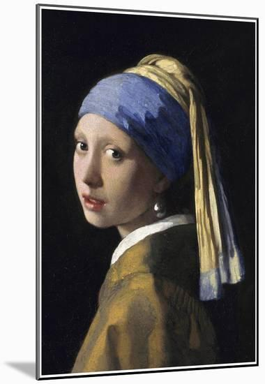 0935f440491 Johannes Vermeer Girl with a Pearl Earring Art Print Poster Mounted ...