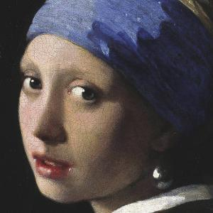 Girl with a Pearl Earring (detail) by Johannes Vermeer