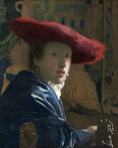 Girl with the Red Hat, C. 1665-66 by Johannes Vermeer