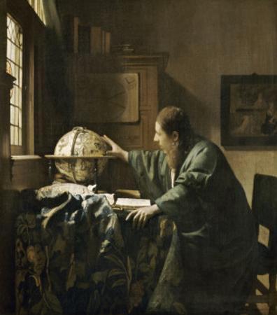 L'astronome dit aussi l'Astrologue by Johannes Vermeer