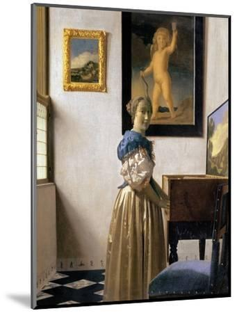 Lady Standing at the Virginal, circa 1672-73 by Johannes Vermeer