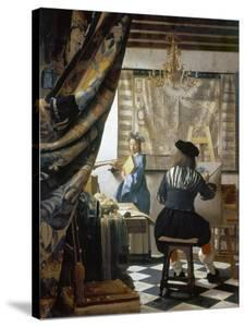 The Art of Painting (The Artist's Studio), C. 1666-68 by Johannes Vermeer