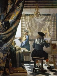 The Art of Painting (The Artist's Studio), C. 1666-68 by Johannes Vermeer