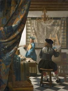 The Artist's Studio, C.1665-66 by Johannes Vermeer