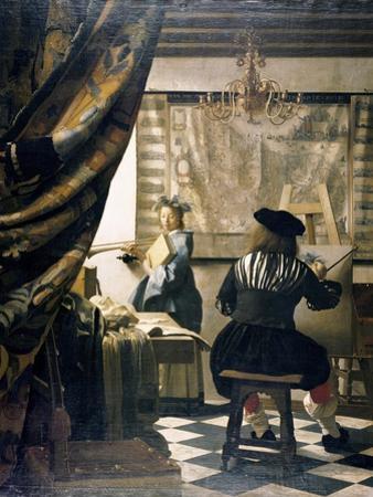 The Artist's Studio by Johannes Vermeer