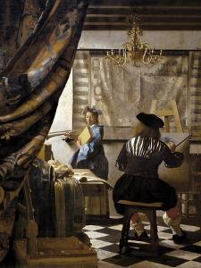 The Artists Studio or the Art of Painting by Johannes Vermeer