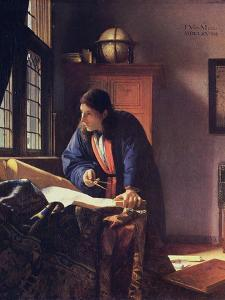 The Geographer, 1668-1669 by Johannes Vermeer