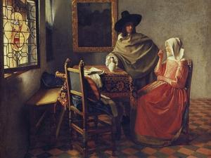 The Glass of Wine, about 1660/61 by Johannes Vermeer