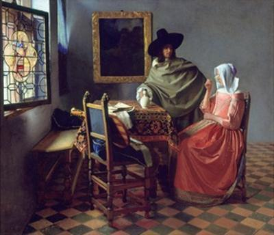 The Glass of Wine by Johannes Vermeer