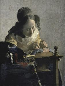 The Lacemaker, 17th century by Johannes Vermeer