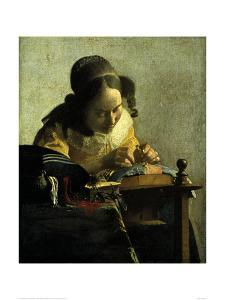 The Lacemaker by Johannes Vermeer