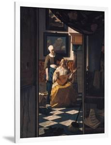 The Love Letter, about 1670 by Johannes Vermeer