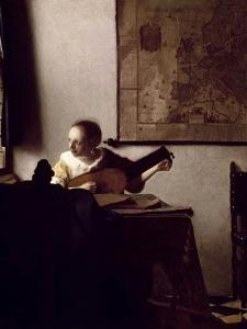 The Lute Player, 1663-1664 by Johannes Vermeer