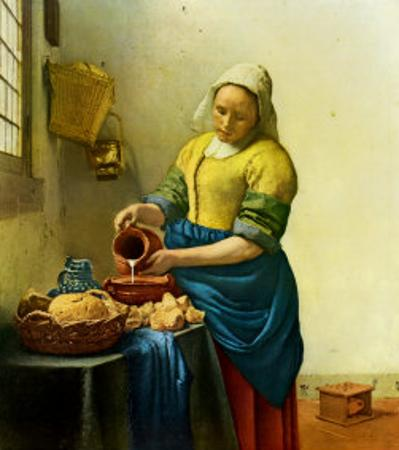 The Milkmaid, c.1658-1660 by Johannes Vermeer